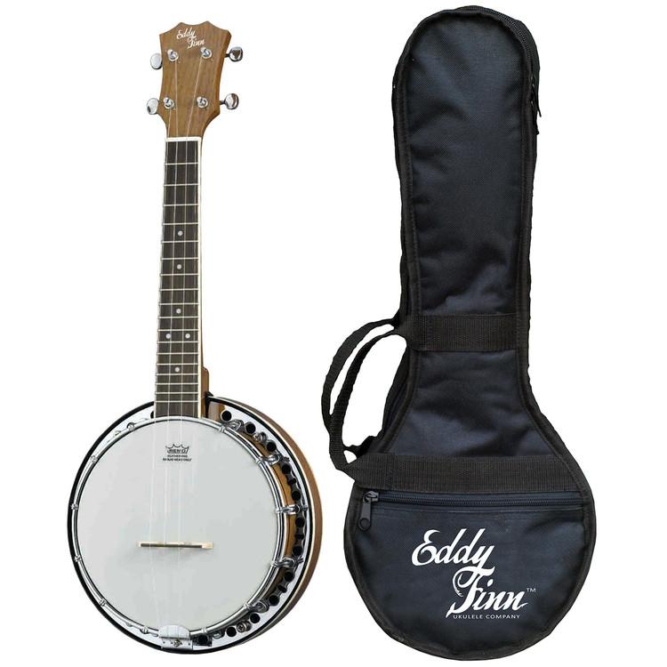 Eddy Finn EF-BU2 Closed Back Banjo Ukulele and Gig Bag