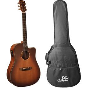 Morgan Monroe MDC-1CEB Acoustic Electric Guitar w/ Gig Bag, Antique Sunburst