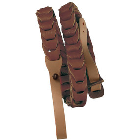 Morgan Monroe MDS-5 Deluxe Leather Mandolin Strap, Brown (MDS-5BR)