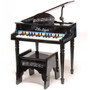 Little Legends LLBGD304B 4 Leg Baby Grand 30-Key Toy Piano w/ Bench, Black