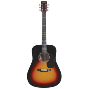 Lauren LA125 6-String Dreadnought Acoustic Guitar, Vintage Sunburst