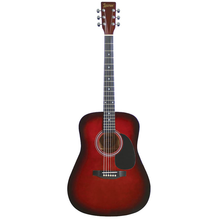 Lauren LA125BR 6-String Dreadnought Acoustic Guitar, Brown Burst