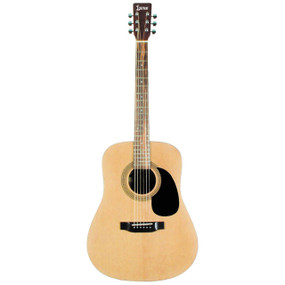 Lauren LA125N 6-String Dreadnought Acoustic Guitar, Natural Satin Finish