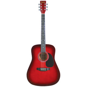 Lauren LA125RD 6-String Dreadnought Acoustic Guitar, Red Burst