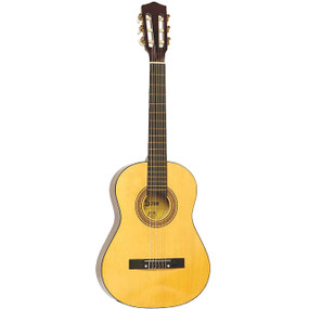 Lauren LA34N Student 3/4 Size Nylon String Classical Acoustic Guitar, Natural