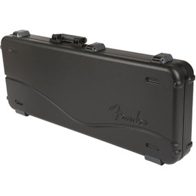 Fender Deluxe Molded Stratocaster and Telecaster Electric Guitar Case, Black (099-6102-306)