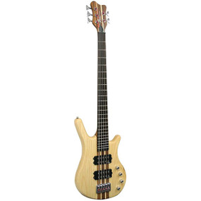 Kona KWB5A 5-String Ash Wood Electric Bass Guitar, Natural