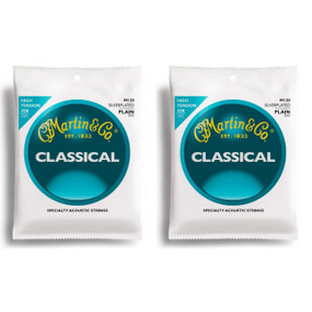 Martin M120 Silver-Plated Plain-End Classical Guitar Strings - 2PACK