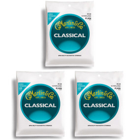 Martin M120 Silver-Plated Plain-End Classical Guitar Strings - 3 PACK