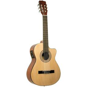 Lucida LG-RQ2-E Solid Top Acoustic Electric Requinto Guitar w/ EQ, Natural