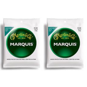 Martin M1400 Marquis Silk & Steel Folk Acoustic Guitar Strings, Ball Ends, 2-PACK