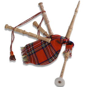 Grover Trophy W600 Junior Size Scottish Bagpipes, Red Tartan (GV-W600)