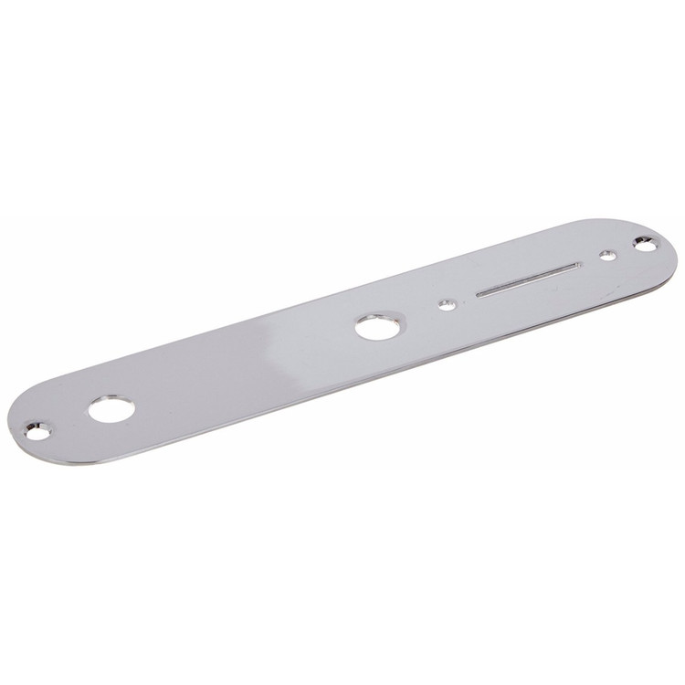 Fender Telecaster Control Plate with Mounting Screws, Chrome (099-2058-000)