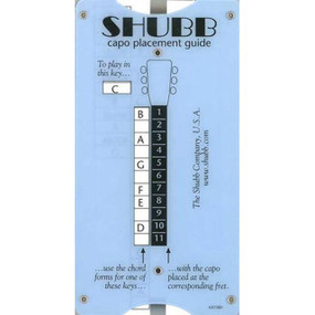 New Shubb TG1 Pocket Size Transposing and Capo Placement Guide (SH-TG1)