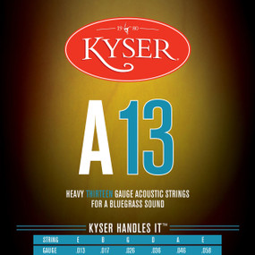 Kyser A13 Bluegrass Acoustic Guitar Strings - 92/8 Phosphor Bronze, KA4