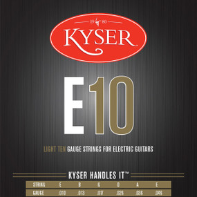 Kyser E10 Light Electric Guitar Strings - Nickel Plated, KE2