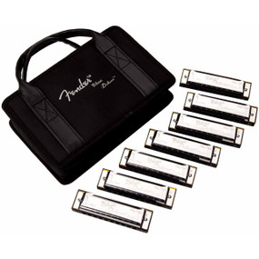 Fender Blues Deluxe Harmonicas - 7-Pack with Case, 099-0701-049
