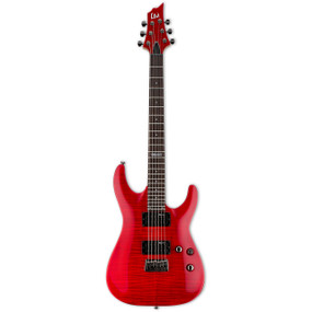 ESP LTD H-101FM Solid-Body Electric Guitar with Flamed Maple Top, See Thru Red - LH101FMSTR