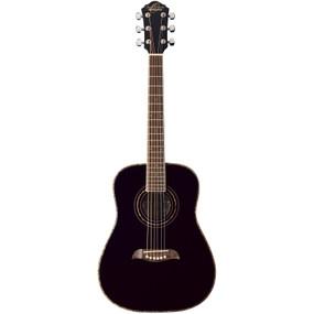 Oscar Schmidt OGHSB Student 1/2 Size Steel String Acoustic Guitar, Black (OGHSB)