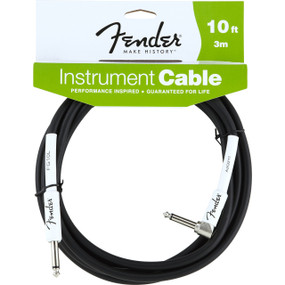 Fender FG10L Performance Series 10' Right Angle Guitar Cable, 099-0820-006