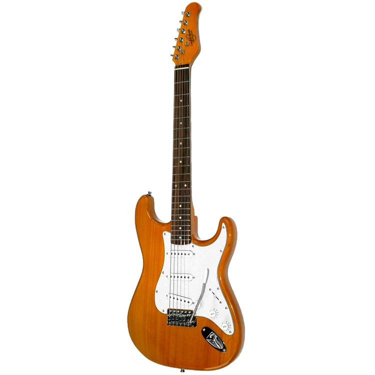 Oscar Schmidt OS-300-NH Double Cutaway Solid-Body Electric Guitar, Natural