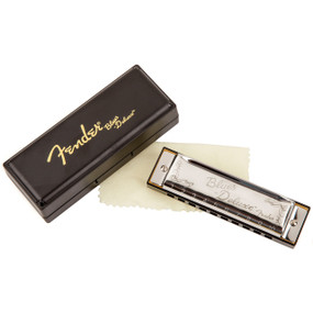 Fender Blues Deluxe 10-Hole Diatonic Harmonica with Case, Key of E (099-0701-006)
