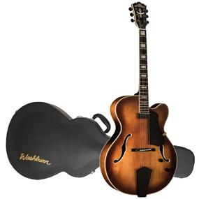 Washburn J600K Vintage Jazz Electric Guitar, Vintage Matte Distressed