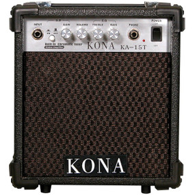 Kona Guitar Amp KA15T 10-Watt Guitar Amplifier w/ Built-In Tuner & Overdrive