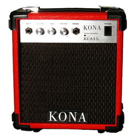 Kona 10 Watt Guitar Amp KCA15RD Guitar Amplifier, Red