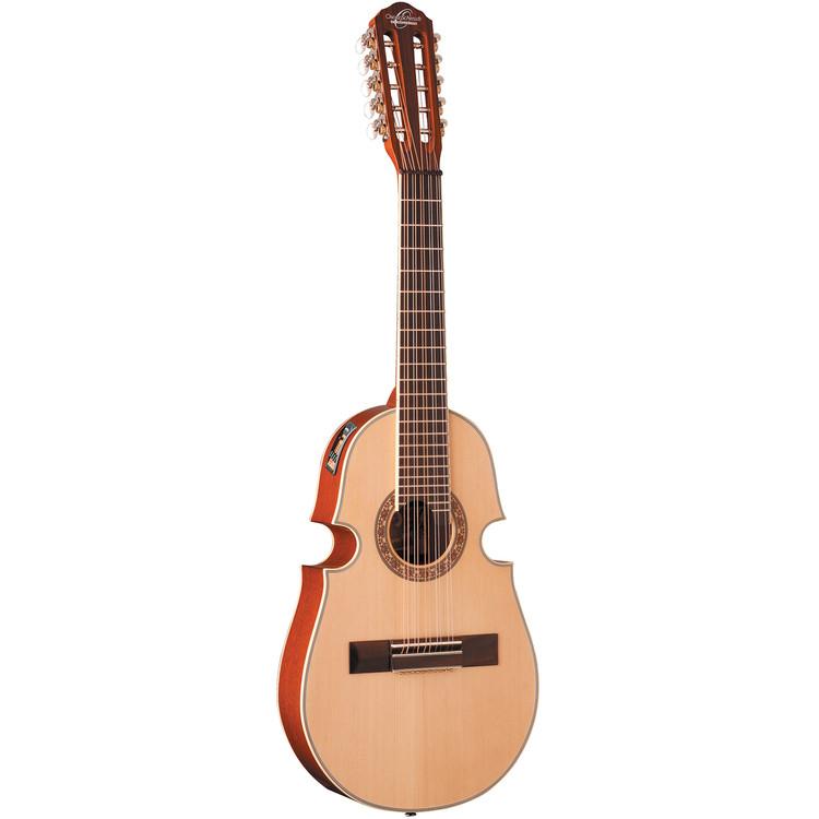 Oscar Schmidt OQ40SE Solid Top Acoustic Electric Cuatro w/ Gig Bag