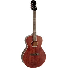 The Loar LH-204-BR Brownstone Small Body Acoustic Guitar, Brown Satin