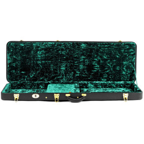 Guardian CG-044-B Vintage Hardshell Case for Electric Bass Guitar, Black