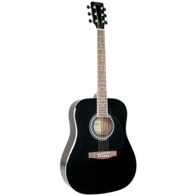 Johnson JG-620-B Player Series Dreadnought Acoustic Guitar, Black