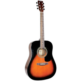 Johnson JG-620-S Player Series Dreadnought Acoustic Guitar, Sunburst