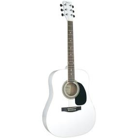 Johnson JG-620-W Player Series Dreadnought Acoustic Guitar, White