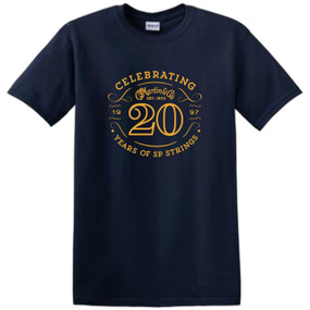 Martin 40MSP0097XL SP Strings 20th Anniversary T-Shirt, XL Navy