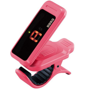 Korg PC1-PI Pitchclip Chromatic Clip-On Tuner for Guitar and Bass, Pink