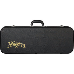 Washburn MC92 Deluxe Hardshell F-Style Mandolin Case, Black
