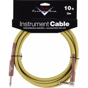 Fender FG10TL Custom Shop Series 10ft Tweed Guitar Cable, 099-0820-029