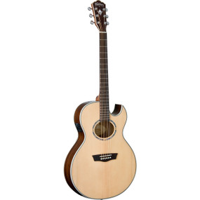 Washburn EA20SNB Nuno Bettencourt Festival Series Thin Body Jumbo Acoustic Electric Guitar (EA20SNB)