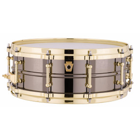 "Ludwig LB416BT Black Beauty 5""x 14"" Snare Drum with Brass Trim"