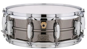 "Ludwig LB416K Black Beauty Hammered Brass Shell Snare Drum, 5"" x 14"""
