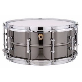 "Ludwig LB417T Black Beauty 6.5""x 14"" Smooth Brass Snare Drum w/ Tube Lugs"