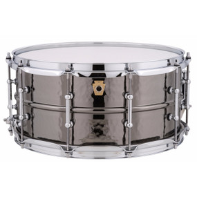 "Ludwig LB417KT Black Beauty 6.5""x 14"" Hammered Brass Snare Drum w/ Tube Lugs"
