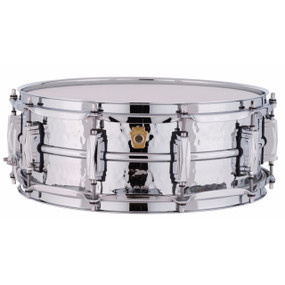 "Ludwig LM400K Supraphonic 5""x14"" Hammered Aluminum Shell Snare Drum w/ Imperial Lugs"