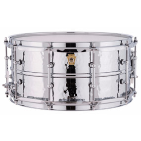 "Ludwig LM402KT Supraphonic 6.5""x14"" Hammered Aluminum Shell Snare Drum w/ Tube Lugs"