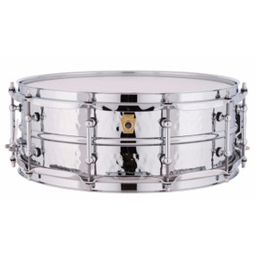 "Ludwig LM400KT Supraphonic 5""x14"" Hammered Aluminum Shell Snare Drum w/ Tube Lugs"