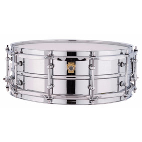 "Ludwig LM400T Supraphonic 5""x14"" Smooth Aluminum Shell Snare Drum w/ Tube Lugs"