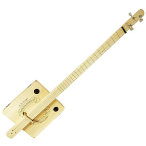 """Pure & Simple"" Fully Fretted 3-String Cigar Box Guitar DIY Kit, 36-013-01W"