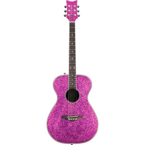 Daisy Rock DR6205 Pixie Sparkle Acoustic Guitar, Pink Sparkle